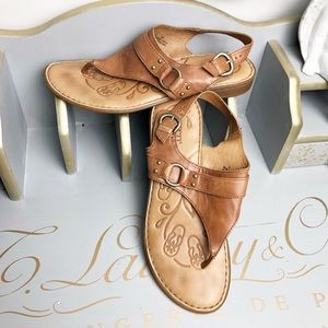 Born tan leather sandals
